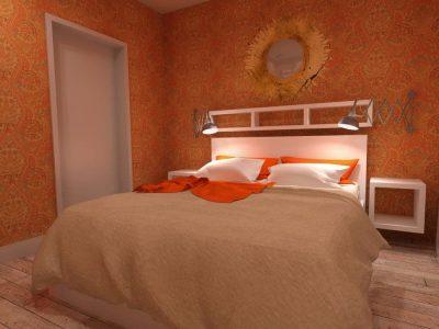 Wizualizacja sypialni